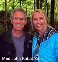 Vibekke med John Kabat-Zinn